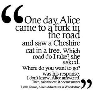 """One day Alice came to a fork in the road..."""