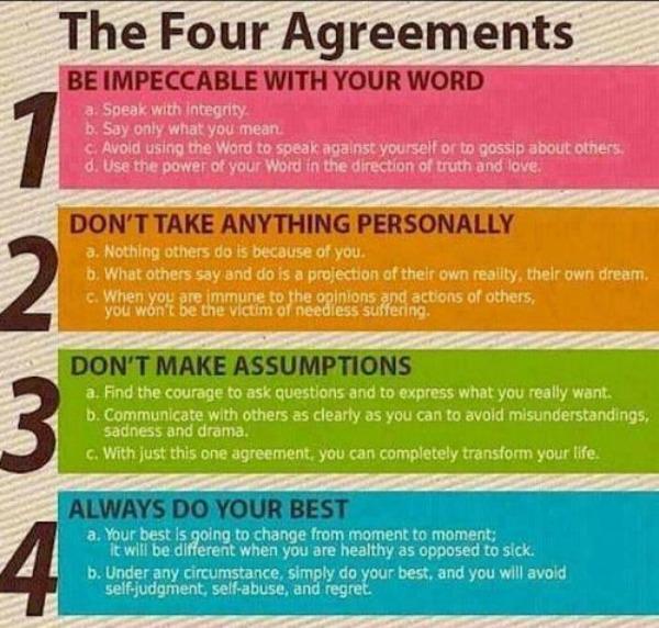 The four agreements - life advice